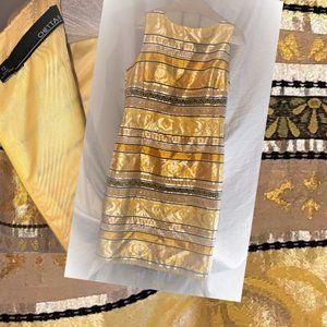 NWOT Chetta B Size 12 Yellow, Black & White Dress